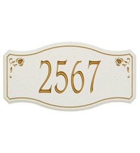 New Amsterdam Carved Stone Address Plaque - Estate Image