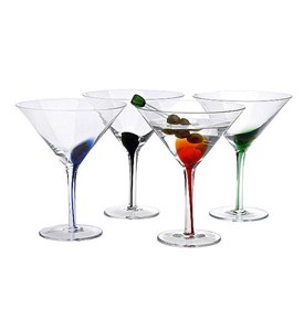 Color Splash Martini Glasses (Set of 4) Image