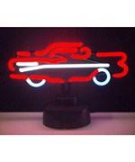 57 Chevy Retro Car Neon Sculpture - by Neonetics