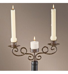 Wine Bottle Candle Holder Image