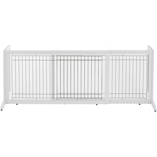 Large Richell Freestanding Pet Gate - White Image