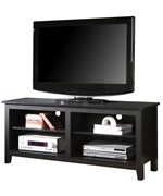 58 Inch Open Shelf Wood TV Stand