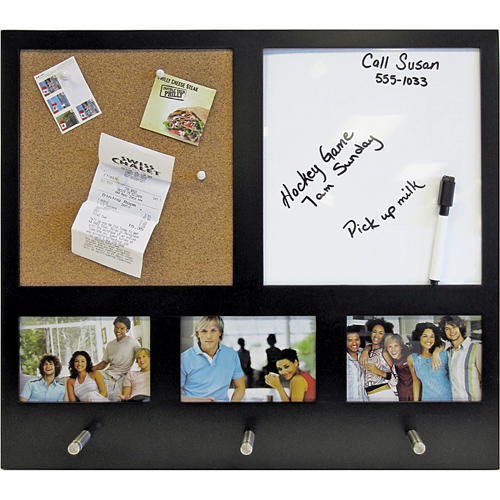 Combo Whiteboard And Corkboard With Photo Frame In Memo