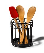 Scroll Utensil Caddy - Black