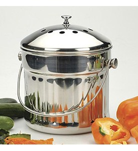 Stainless Steel Jumbo Compost Pail Image