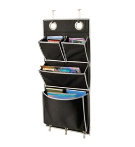 Eyelet Wall or Over the Door Organizer - Black Image