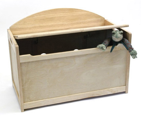 Wooden Toy Chest - Natural Beechwood Image