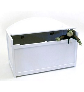 Wooden Toy Chest - White Image