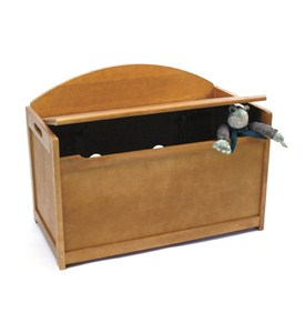 Wooden Toy Chest - Pecan Image