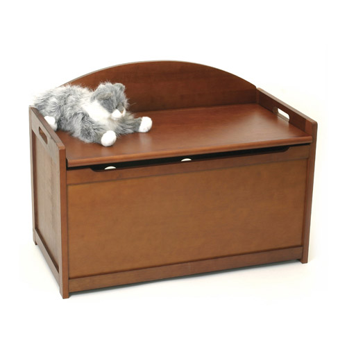 Wooden Toy Chest - Cherry in Toy Storage