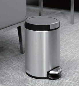 5L Artistic Stainless Steel Pedal Trash Can Image