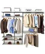 freedomRail Double Hanging Shoe Wire Closet