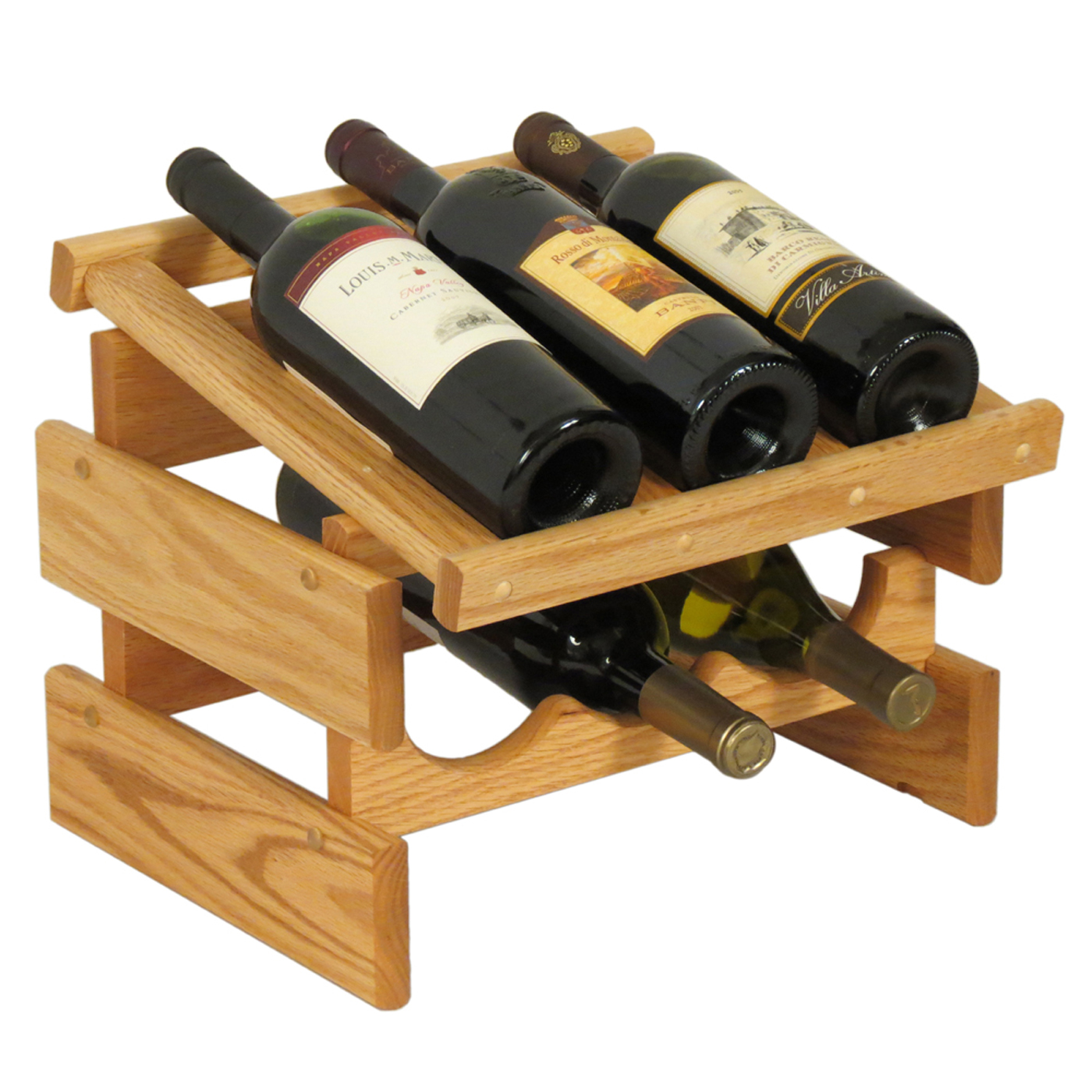 Wood Wine Rack 6 Bottle In Wine Racks
