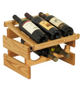 Wood Wine Rack - 6 Bottle Image
