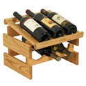 Wood Wine Rack - 6 Bottle