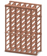 6-Column Half-Height Wine Rack