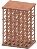 6-Column Wine Rack with Tabletop