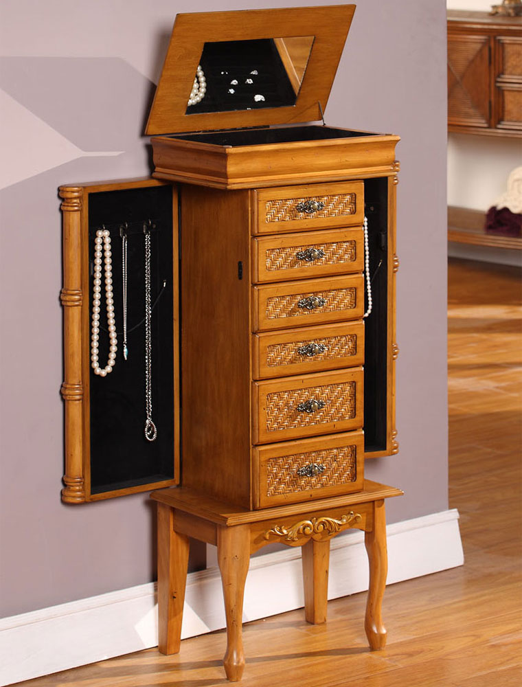 Standing Jewelry Armoire ~ Standing jewelry armoire in armoires