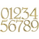 6 Inch Address Numbers - Polished Brass