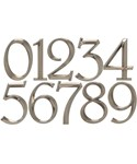 6 Inch Address Numbers - Brushed Nickel