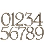 6 Inch Address Numbers - Polished Nickel