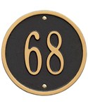 6 Inch Round Wall Address Marker