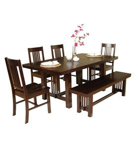 6-Piece Meridian Wood Dining Set by Walker Edison Image