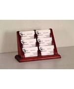 Business Card Display - Oak