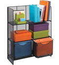 Black Mesh Shelving Unit