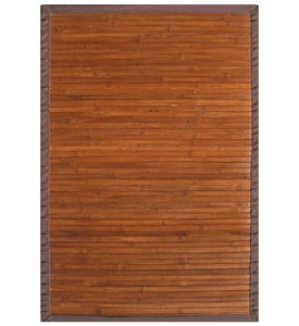 Contemporary Chocolate Bamboo Rug by Anji Mountain Image