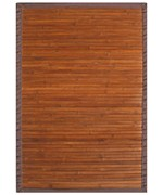Contemporary Chocolate Bamboo Rug by Anji Mountain