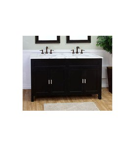 60 Inch Double Sink Wood Shaker Vanity by Bellaterra Home Image