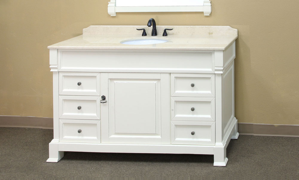 60 Inch Traditional Single Sink Vanity By Bellaterra Home