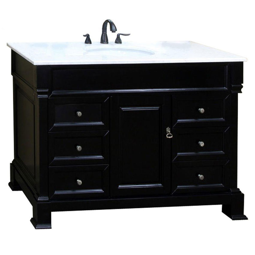 60 Inch Traditional Single Sink Vanity In Bathroom Vanities