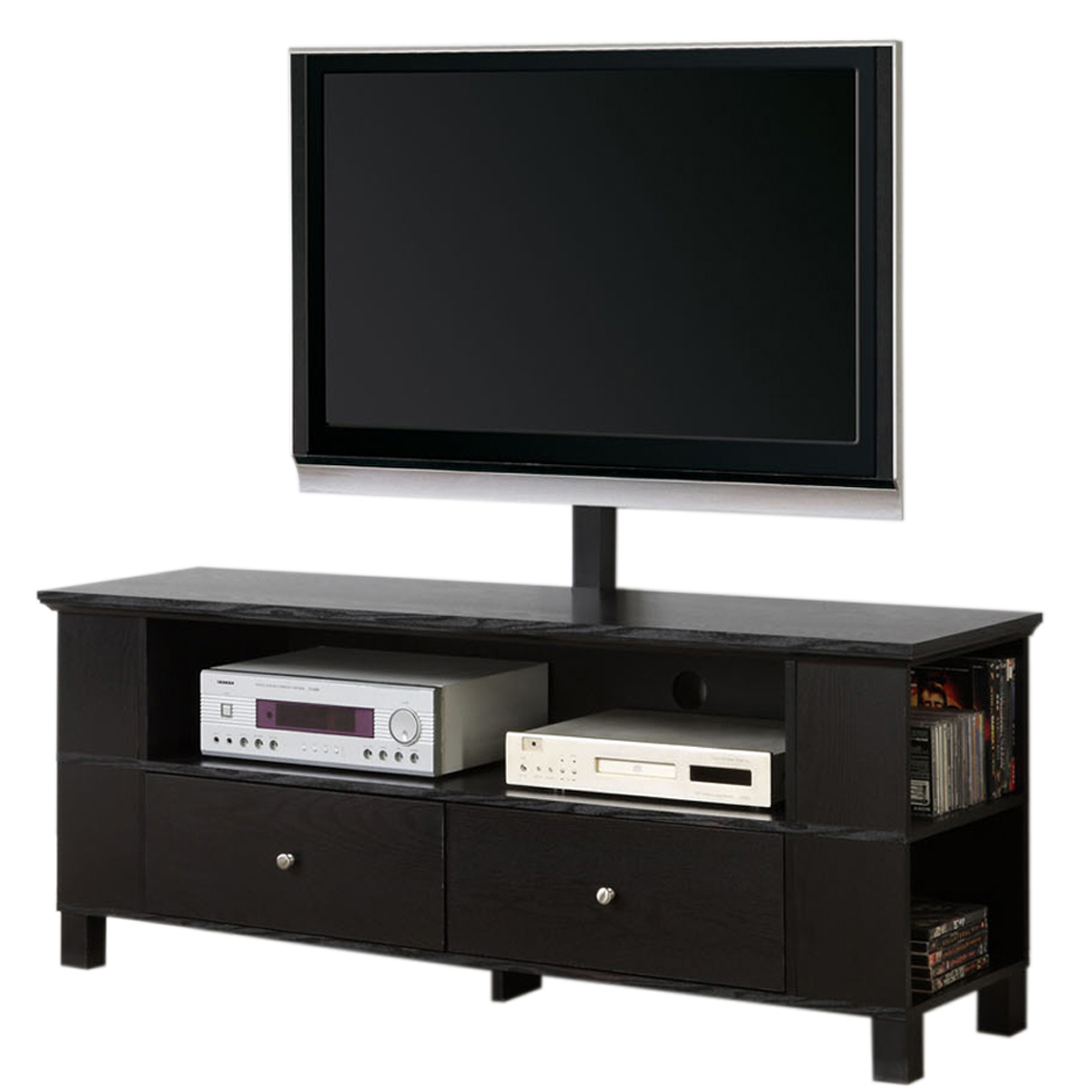 60 inch wood tv stand with mount and storage by walker edison in tv stands. Black Bedroom Furniture Sets. Home Design Ideas