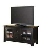 52 Inch Wood TV Stand with Drawers and Glass Doors by Walker Edison