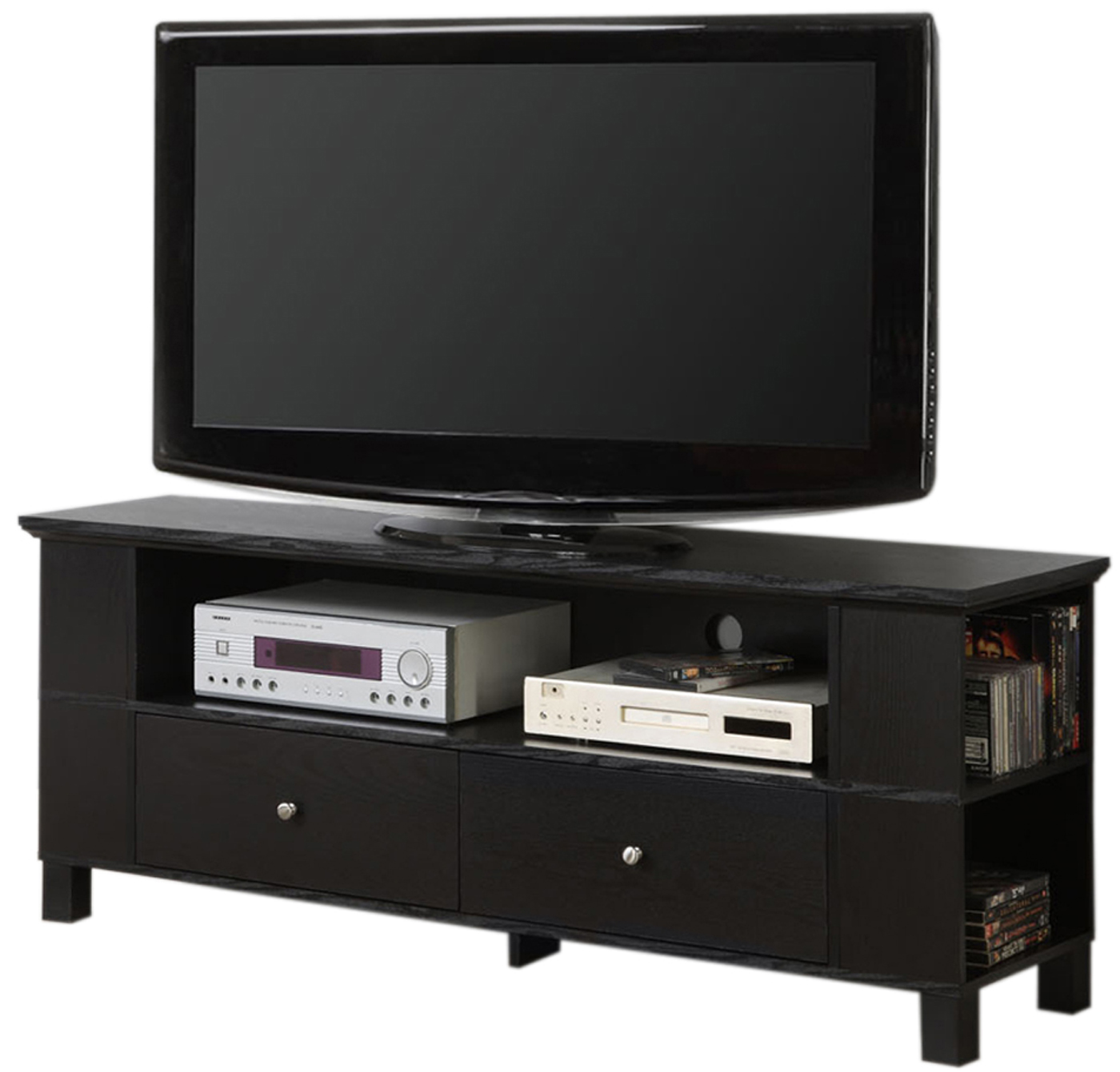 60 Inch Wood Tv Stand With Multi Purpose Storage By Walker