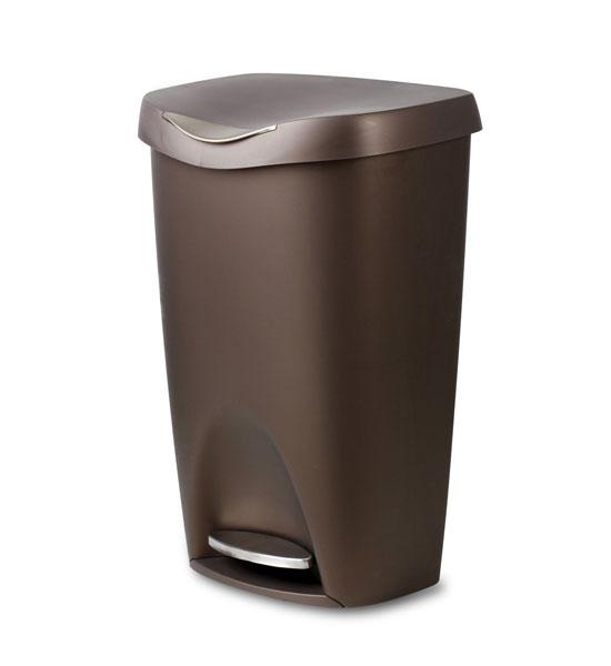 Bronze brim 50 l step can in kitchen trash cans - Kitchen trash container ...