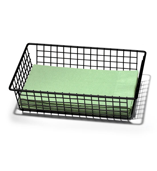 6 X 9 Inch Grid Drawer Organizer Black In Wire Baskets