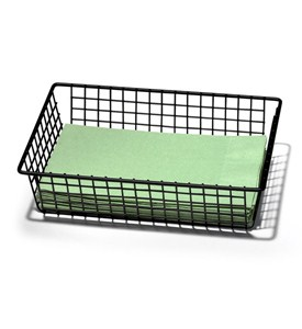 6 x 9 Inch Grid Drawer Organizer - Black Image