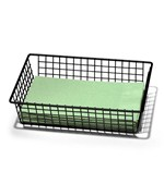 6 x 9 Inch Grid Drawer Organizer - Black
