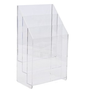 Clear Acrylic Magazine Holder - Three Pockets Image
