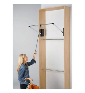 Matte Nickel Pull Down Closet Rod Image