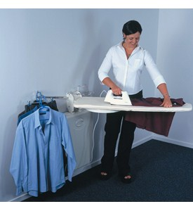 Fold Out Ironing Board and Laundry Center Image