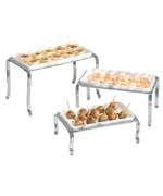 Ceramic Buffet Trays - Chrome