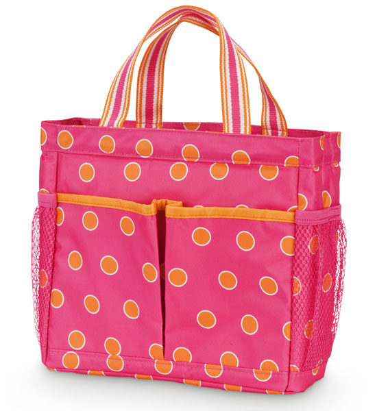 Polka Dot Collapsible Shower Caddy in Shower Baskets