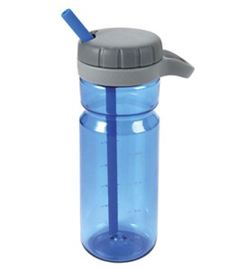 Blue Water Bottle with Straw - OXO Good Grips Image
