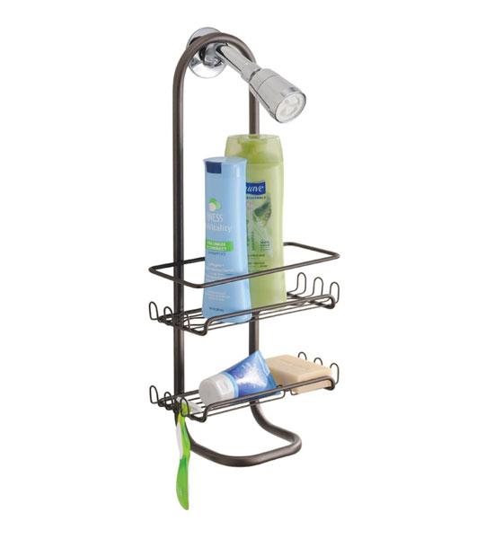 Two Shelf Hanging Bronze Shower Caddy in Shower Caddies