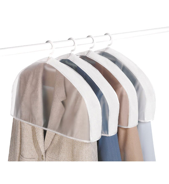 Breathable Vinyl Shoulder Covers Set Of 4 In Garment Bags