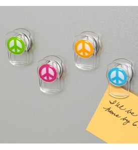 Magnet Clips - Peace Signs (Set of 4) Image